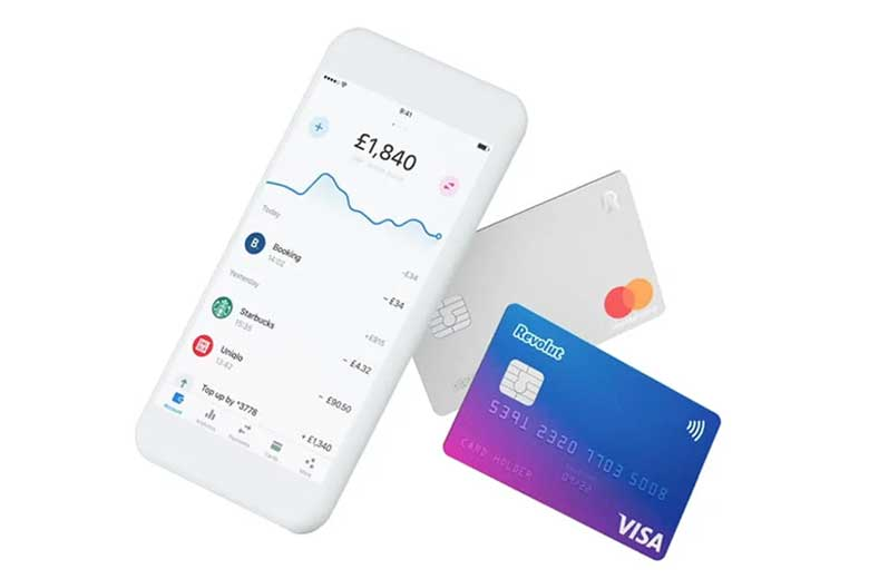 Revolut cards and a mobile phone